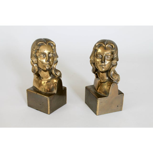 Female Brass Bookends For Sale - Image 11 of 11