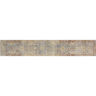 """Nalbandian - Contemporary Indian Tabriz Runner - 2'4"""" X 13'6"""" For Sale"""