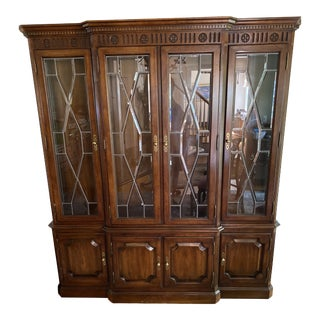 Ethan Allen Mahogany China Cabinet For Sale