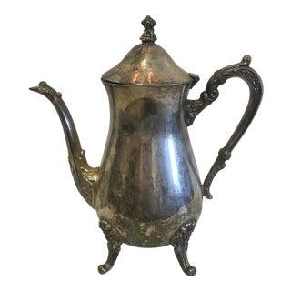 Silver Plate Tea Pot by Leonard For Sale