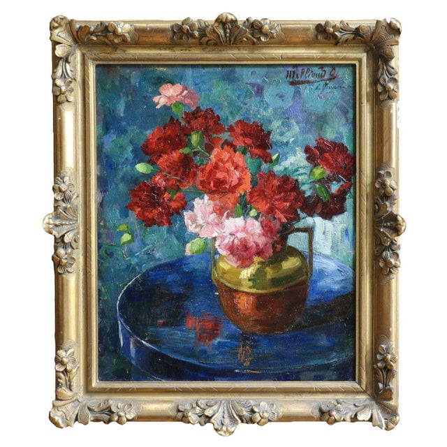 GABRIELLE MILLIOUD MELAY ( 1875 - 1931 ) For your consideration, a very beautiful signed large oil by the Lyon painter...