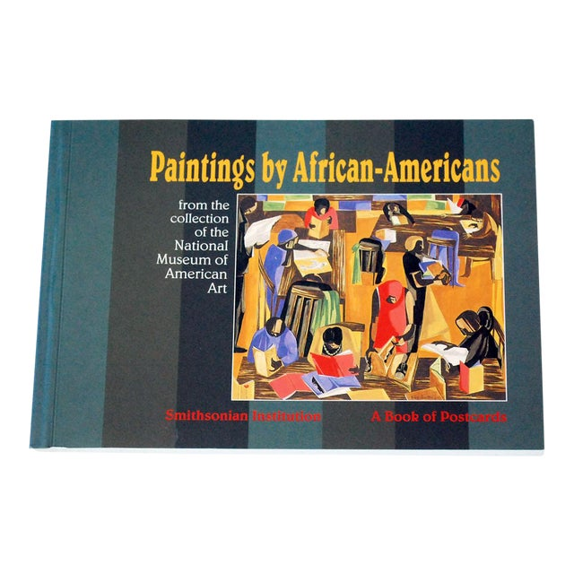 """Vintage """"Paintings by African-Americans"""" Postcard Book For Sale"""