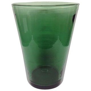 1950s Venini Green Vase For Sale