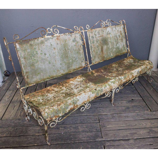 Brilliant 1900S French Large Iron Garden Bench Cjindustries Chair Design For Home Cjindustriesco