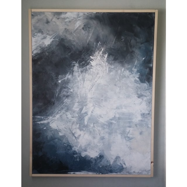 """""""Layered Clouds"""" Framed Abstract Art by Kris Gould - Image 4 of 6"""