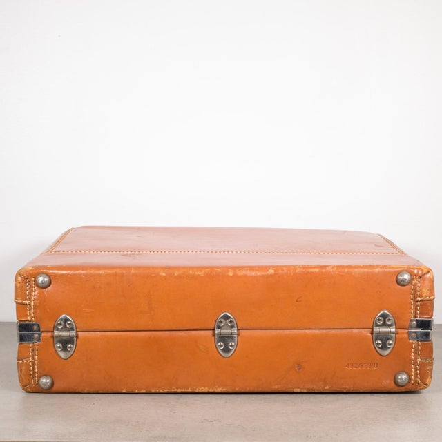 "Brown Vintage ""The Colonel"" Leather Luggage C.1950-1960 For Sale - Image 8 of 13"