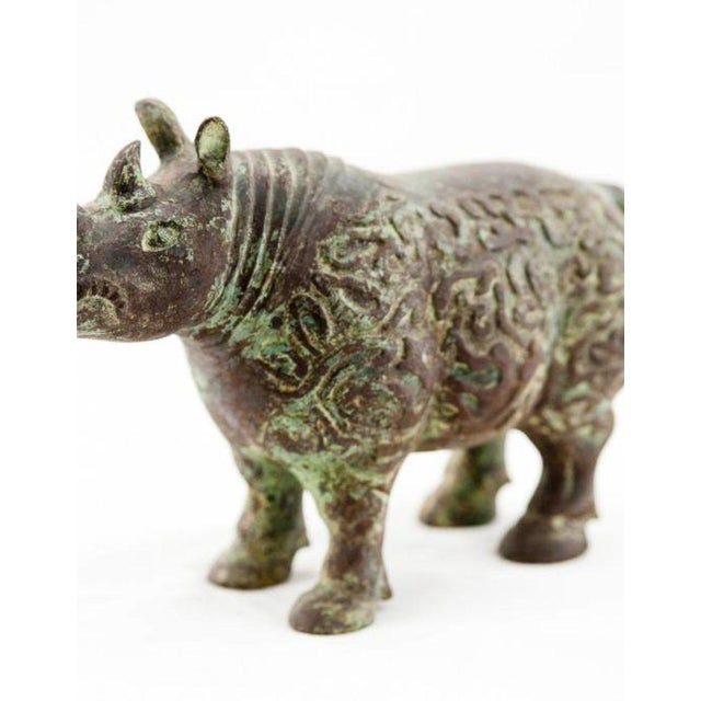 Asian Lawrence & Scott Rhinoceros For Sale - Image 3 of 6