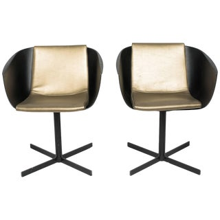 1980s Vintage Poliform Strip Swivel Chairs by Carlo Columbo - a Pair For Sale
