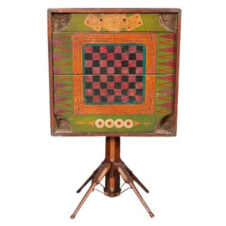 Folk Art Games Table For Sale