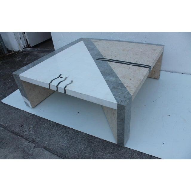 Maitland Smith Tessellated Stone Square Coffee Table - Image 2 of 11