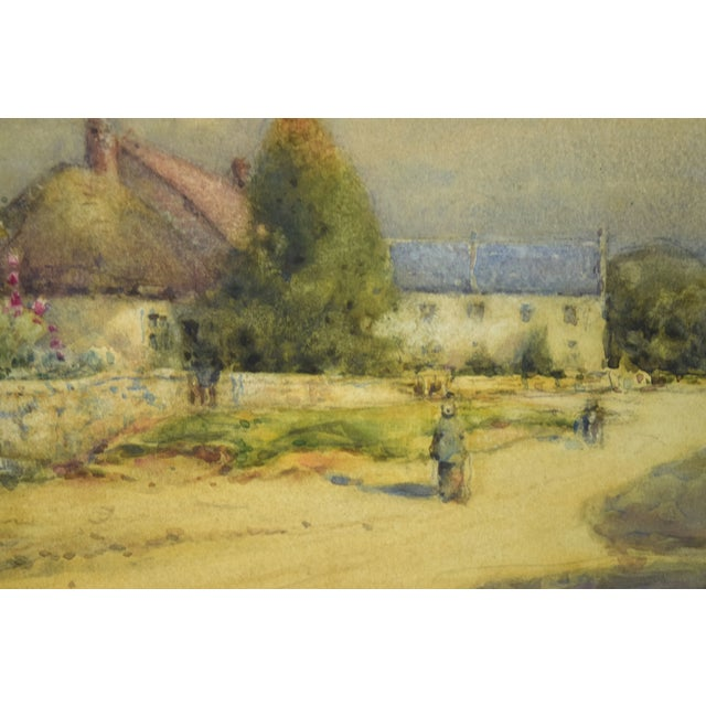 1930s Early 20th Century Antique Alexander MacBride British Village Watercolor Painting For Sale - Image 5 of 10