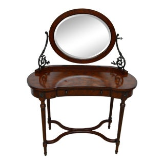 Vintage Theodore Alexander Vanity With Mirror For Sale