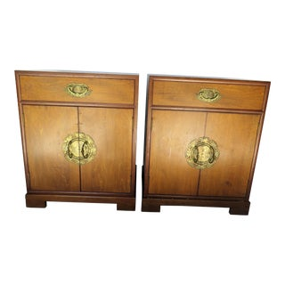 Japanese Hand Crafted Side Tables - a Pair For Sale