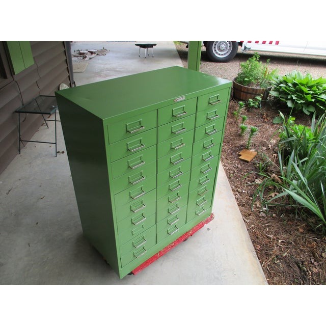 1950's Steelmaster Art Industrial Metal Steel Cabinet For Sale - Image 10 of 11