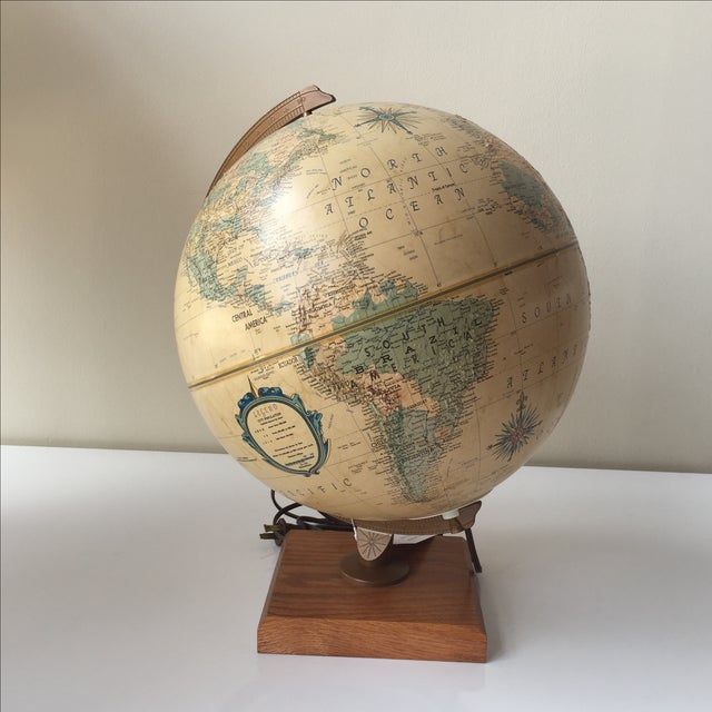 1970 Topographical Light Up Globe - Image 2 of 5