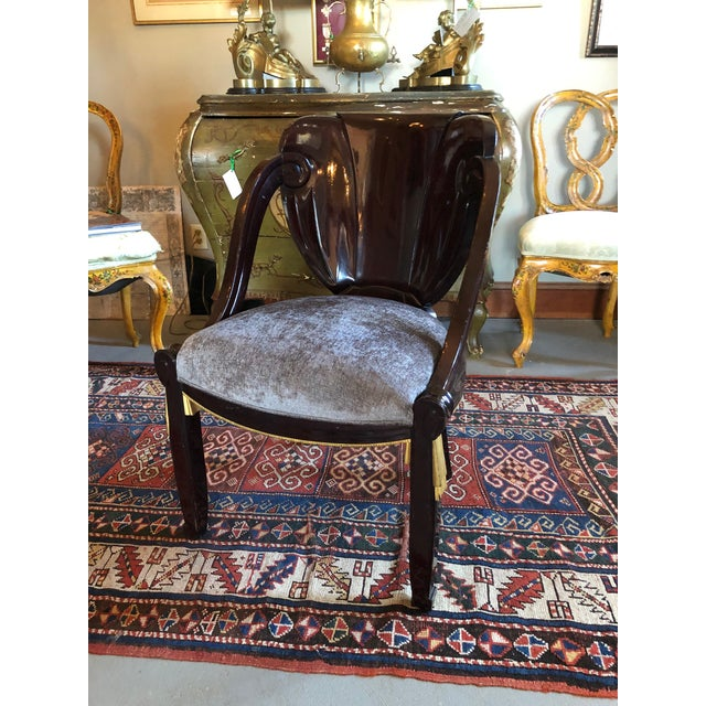 1920s Vintage Sue Et Mare David Weill Art Deco Side Chair For Sale - Image 10 of 13