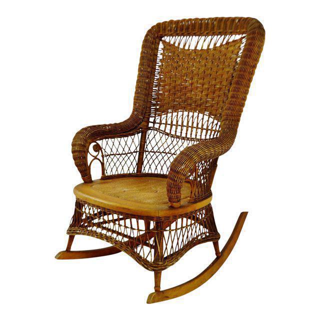 Victorian Larkin Company Wicker Rocking Chair