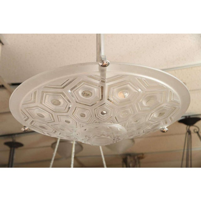 Kovacs Art Deco Ceiling Fixture Signed Kovacs For Sale - Image 4 of 10