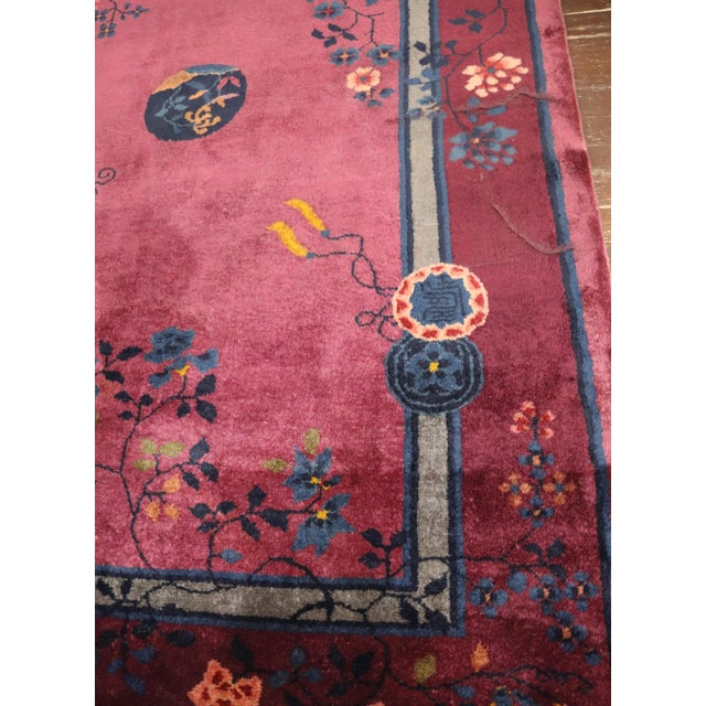 Antique Art Deco Chinese Rug For Sale In Chicago - Image 6 of 11