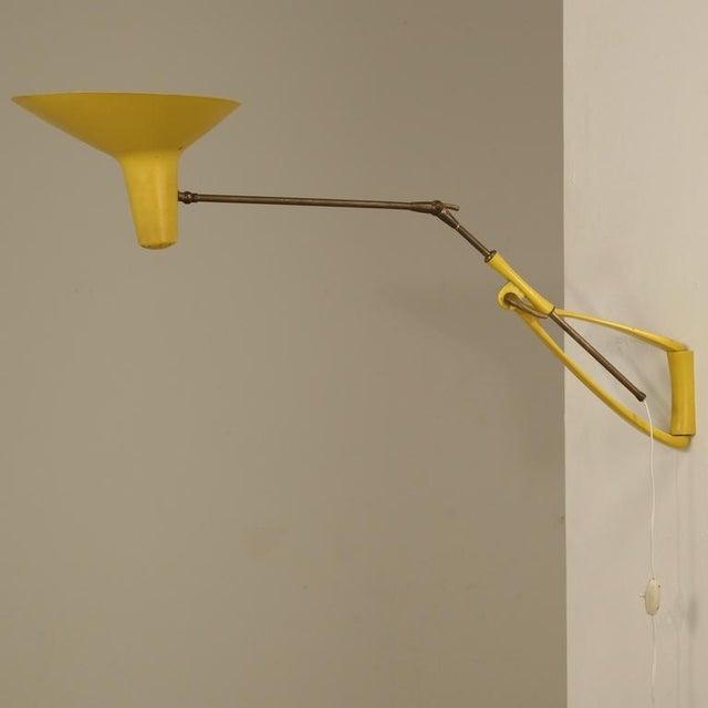 Stilnovo Yellow Metal Extendable Kite Lamp. Italy, 1950s - Image 2 of 6