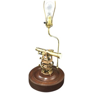 Vintage Brass Sears Transit Table Lamp For Sale