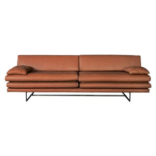 Milan Leather Sofa by Atra For Sale