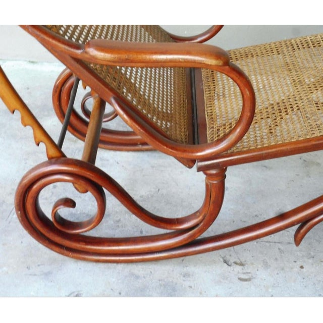 Brown 20th Century Mid-Century Modern Thonet Chaise Lounge Chair For Sale - Image 8 of 13