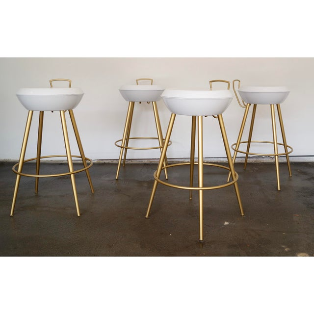 Mid-Century California Modern Bar Stools - Set of 4 - Image 2 of 11
