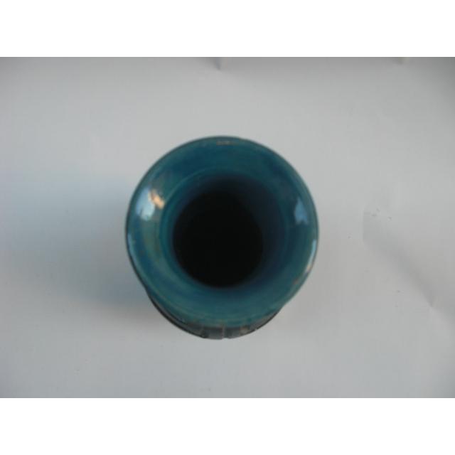 1960s Vintage Italian Greek Key Etched Ceramic Vase For Sale - Image 5 of 7