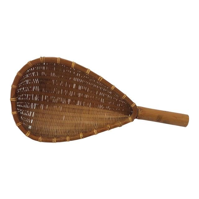 Antique Decorative Racket Shaped Basket For Sale