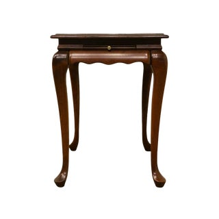 20th Century Traditional High End Solid Cherry Style AccentTable For Sale