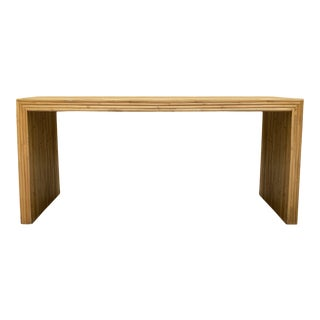 1970s Modernist Bamboo Console For Sale