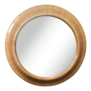 Mid-Century C.1960-1970 Huge Round Lacquered Beveled Mirror