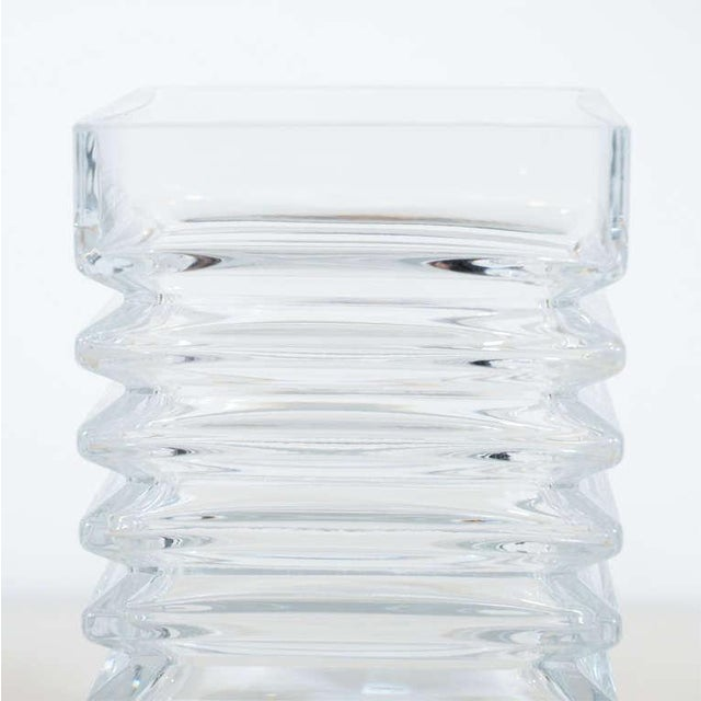Mid-Century Modernist Stepped Glass Vase by Harmoska For Sale - Image 4 of 9