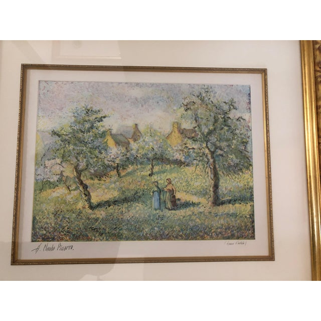 Green 1900s Impressionist Print of Framed Trees in Bloom Aquatint Signed by H Claude Pissarro For Sale - Image 8 of 12