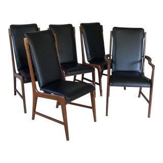 Danish Modern Lane Dining Chairs - Set of 5 For Sale
