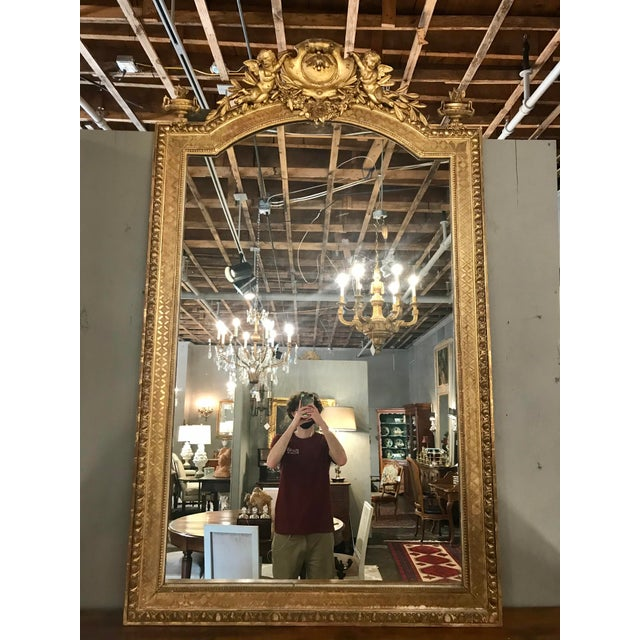 Napoleon III Parcel Gilt Over Mantel Mirror For Sale - Image 6 of 6