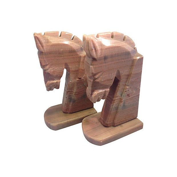 Stone Horse Head Bookends - A Pair - Image 2 of 3