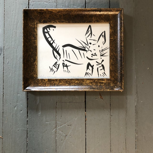 2010s Original Contemporary Abstract Robert Cooke Cat Painting For Sale - Image 5 of 5