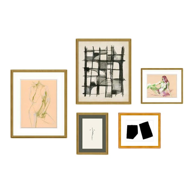 Montmartre Gallery Wall, Set of 5 For Sale