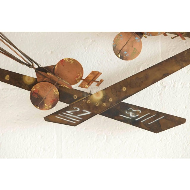 Curtis Jere Brass Wall Sculpture of Airplanes and Airfield, Signed, 1970s For Sale - Image 9 of 11