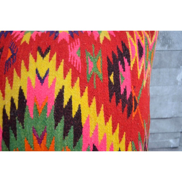Vintage Turkish Kilim Rug Pillow Covers - A Pair - Image 5 of 5