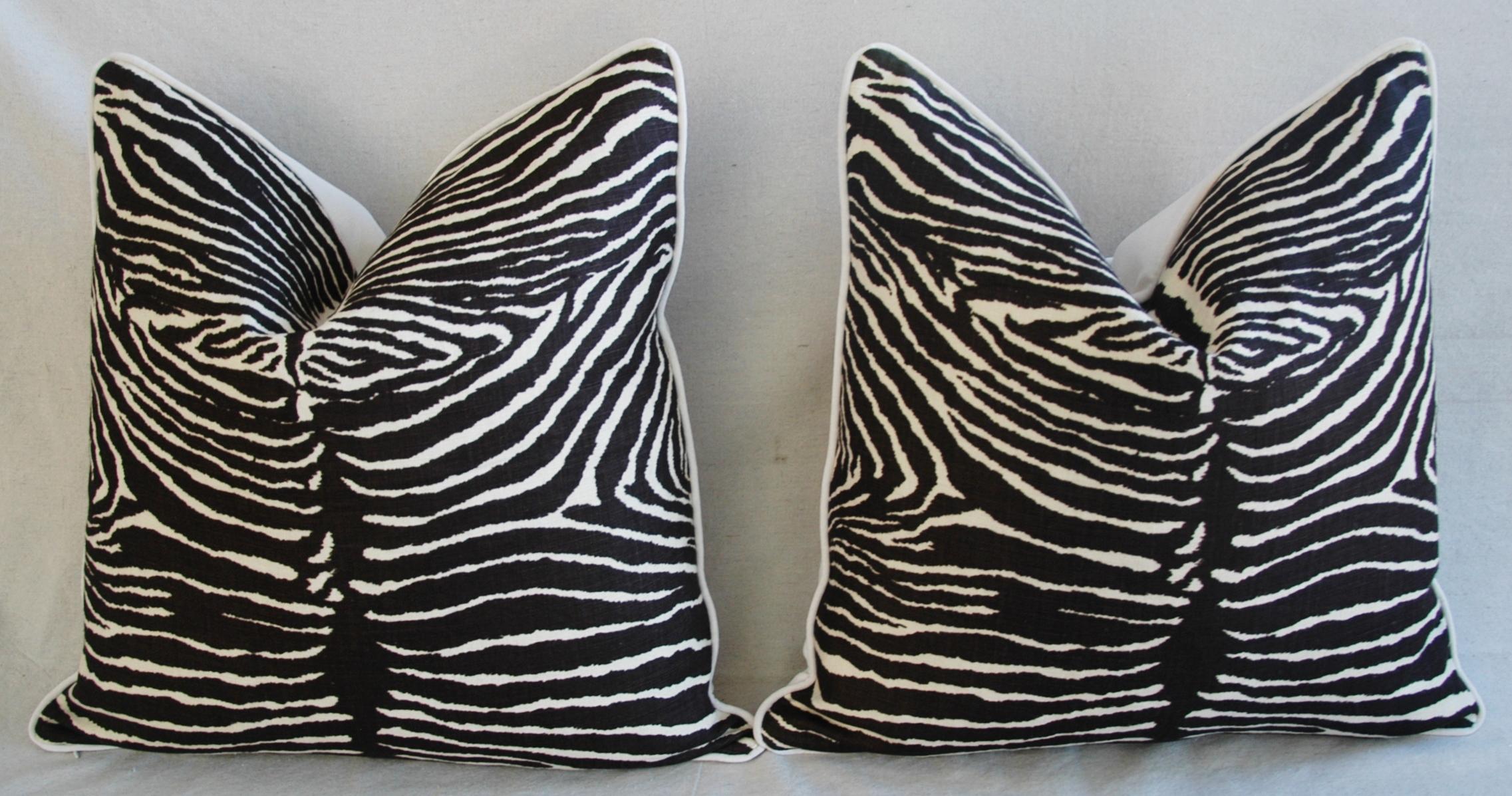 23 Quot Custom Tailored Brunschwig Amp Fils Zebra Feather Down