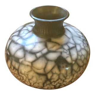 Buchanan Pottery Naked Raku Vase For Sale