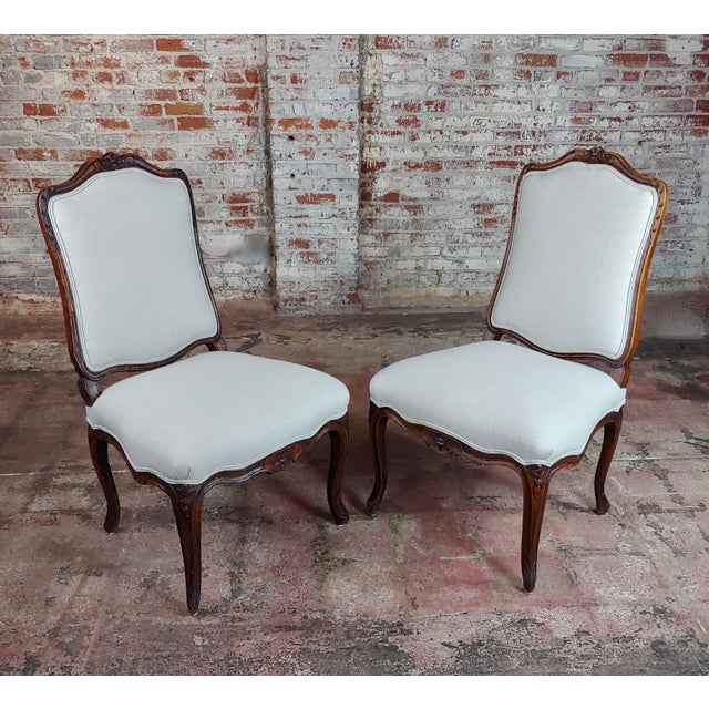 Country French Provincial Country Style Oversized Dining Chairs - Set of 4 For Sale - Image 3 of 10