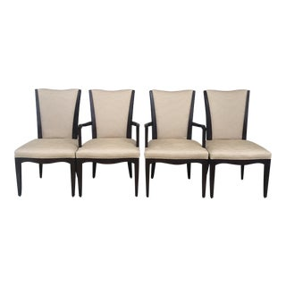 Set of Four Barbara Barry for Baker Furniture Dining Chairs For Sale