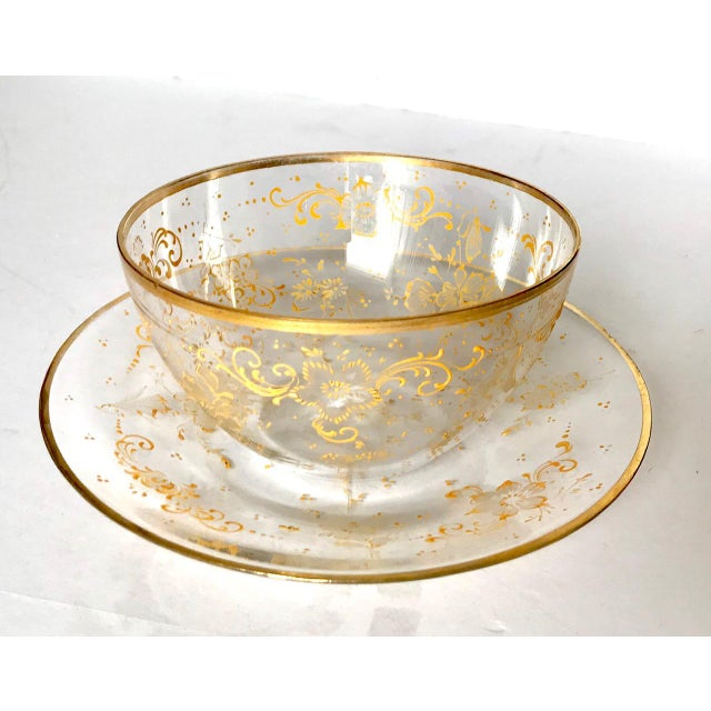 These bowls are made in the late 19th century by J & L Lobmeyr of Vienna, Austria. They are embellished with elegant,...