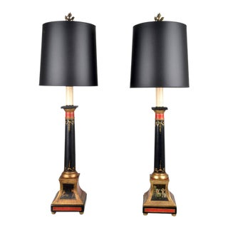 1950s Neoclassical Style Lamps, Italy - a Pair For Sale