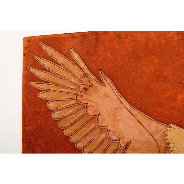 Animal Skin Marc O Johnson Eagle in Leather Art Work For Sale - Image 7 of 10
