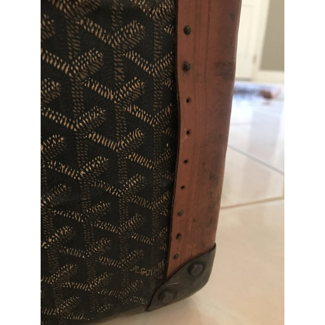 1925 Antique Goyard Steamer Luggage Trunk For Sale In Chicago - Image 6 of 13